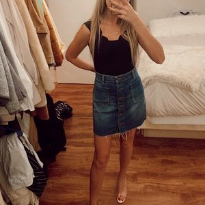 Urban Outfitters High Waisted Jean Skirt